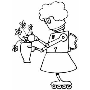 girl robot coloring pages cartoon clipart of a black and white scared robot girl girl coloring pages robot