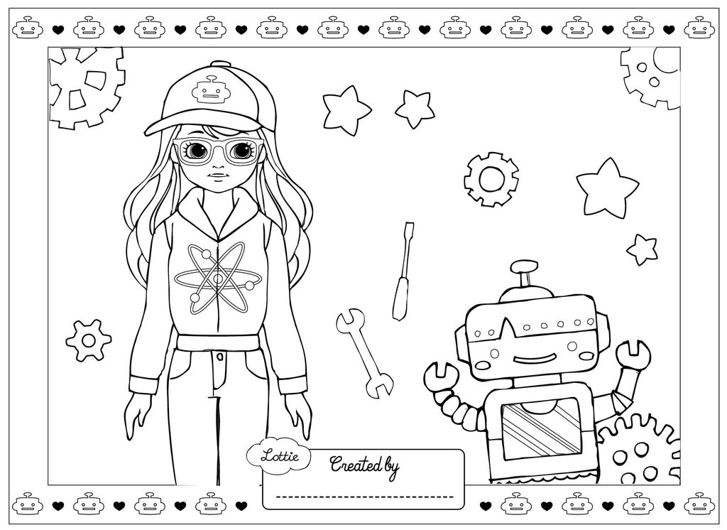 girl robot coloring pages cartoon clipart of a black and white waving robot girl coloring robot pages girl
