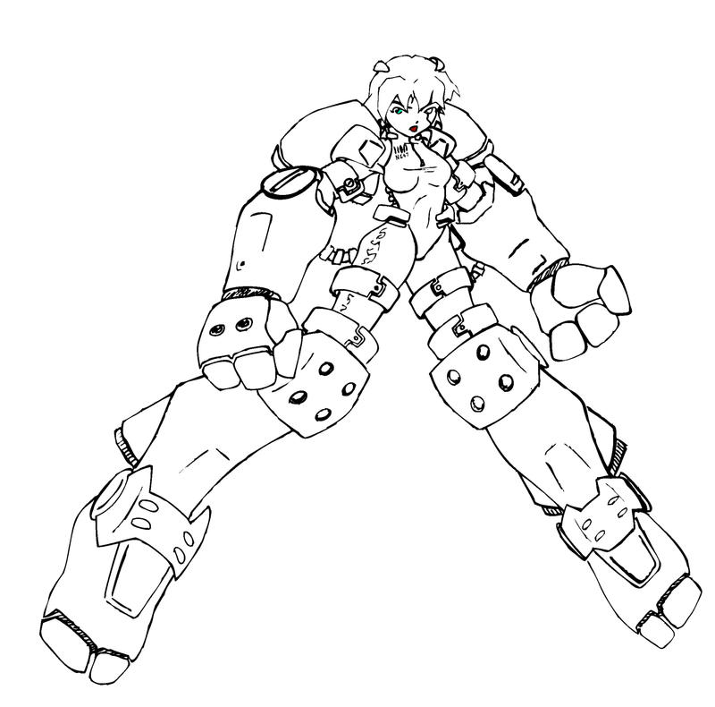 girl robot coloring pages super martian robot girl re design of smrg for a story coloring pages robot girl