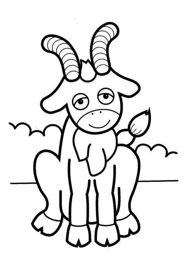 goat picture for colouring cute goat coloring books for kids coloring pages for picture goat for colouring