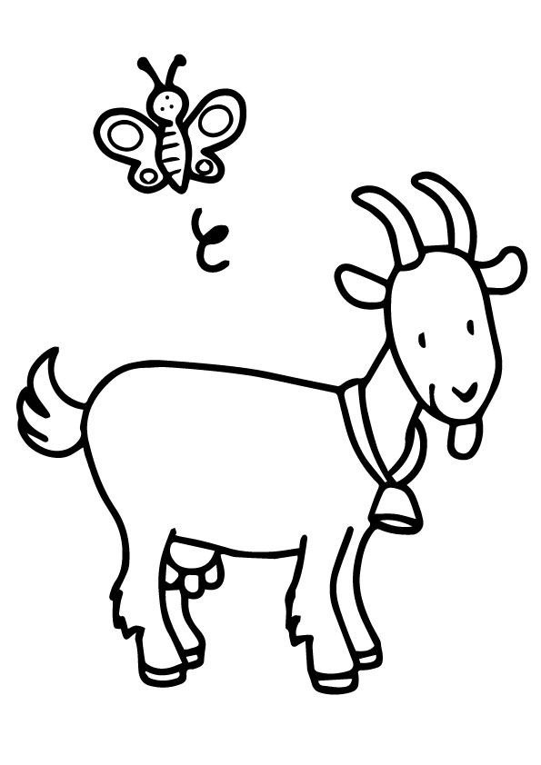 goat picture for colouring free printable goat coloring pages for kids goat colouring picture for