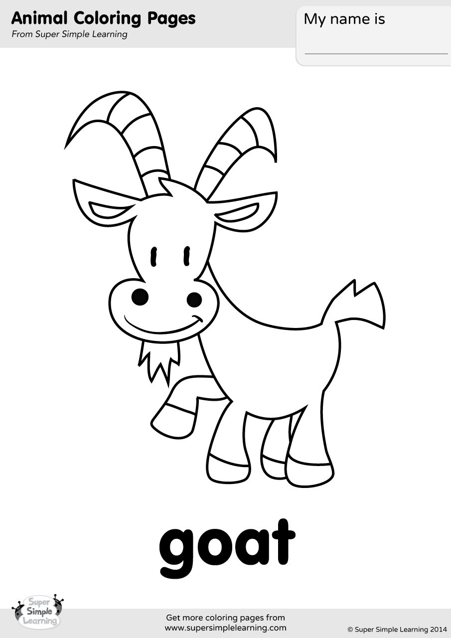 goat picture for colouring goat coloring page super simple for goat colouring picture