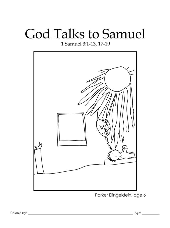god speaks to samuel coloring page kids color me bible chapter 20 god talks to samuel page speaks god coloring to samuel