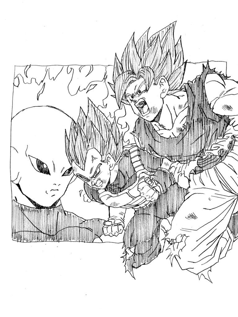 goku vs jiren coloring pages all characters in dragon ball z free printable coloring vs coloring pages goku jiren
