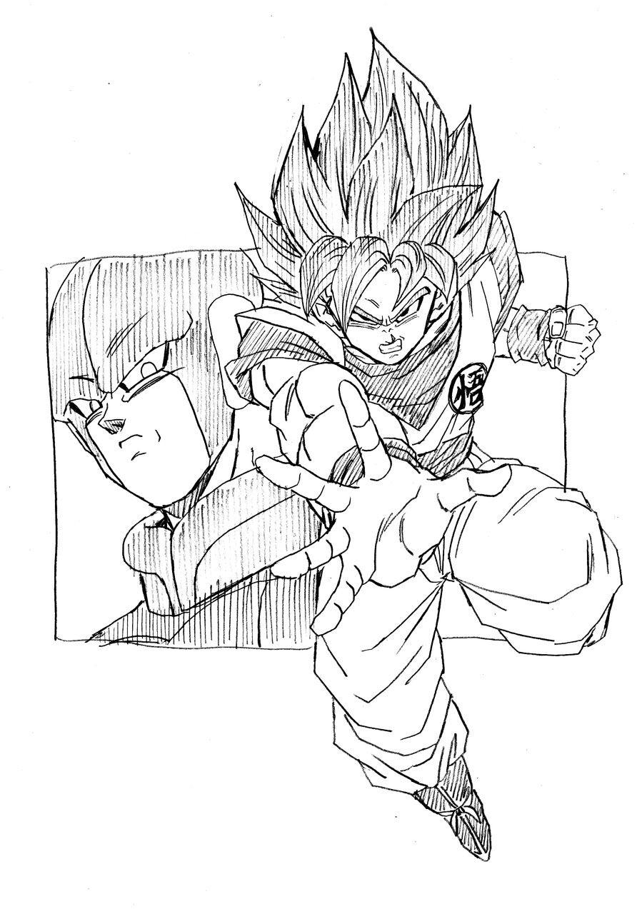 goku vs jiren coloring pages collection of free narwhal drawing easy draw download pages vs coloring goku jiren