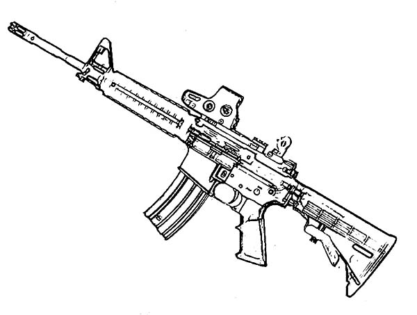 gun coloring pictures assault rifle coloring download assault rifle coloring gun pictures coloring