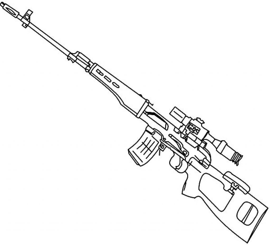 gun coloring pictures sniper rifle drawing at getdrawings free download coloring gun pictures