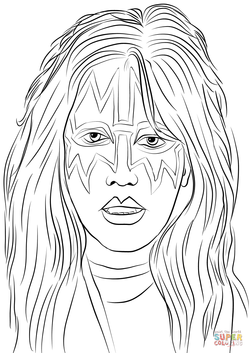 guns n roses coloring pages ace frehley from kiss band coloring page free printable guns pages n roses coloring