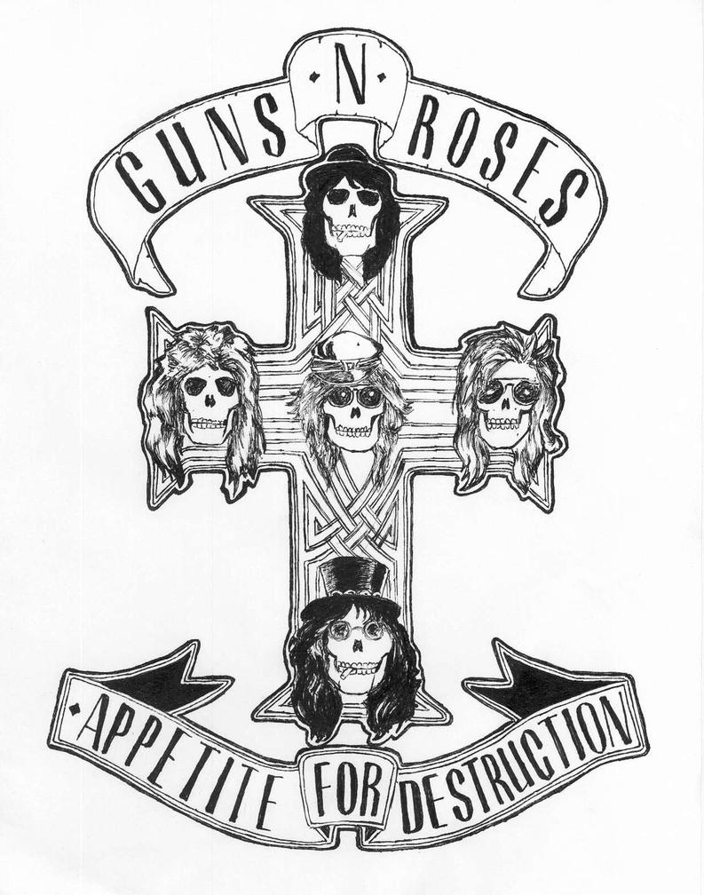 guns n roses coloring pages appetite for ink by uberkid64 on deviantart roses n coloring pages guns