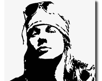 guns n roses coloring pages axl rose painting etsy n guns pages coloring roses