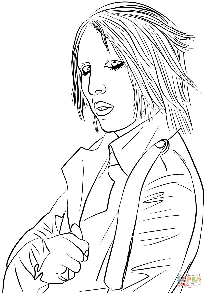 guns n roses coloring pages marilyn manson coloring page free printable coloring pages coloring guns n roses pages