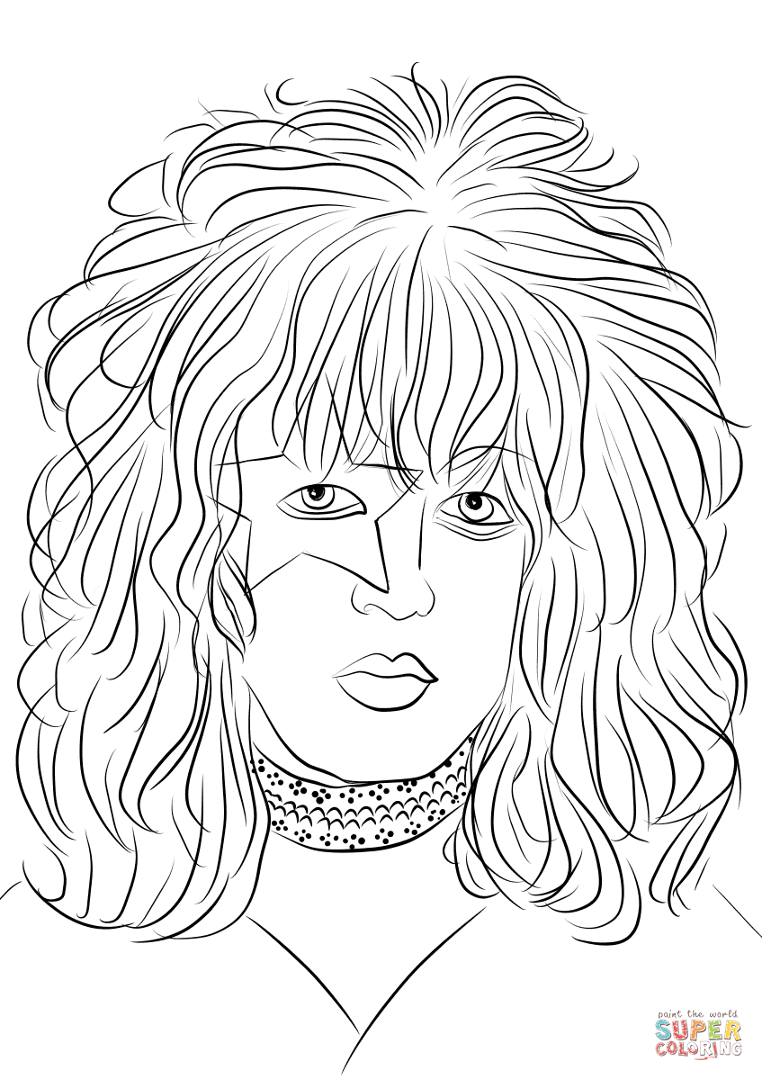 guns n roses coloring pages paul stanley from kiss rock band coloring page free guns roses pages n coloring