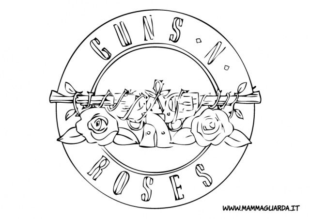 guns n roses coloring pages title con imágenes guns n roses dibujos tatuajes n roses guns coloring pages