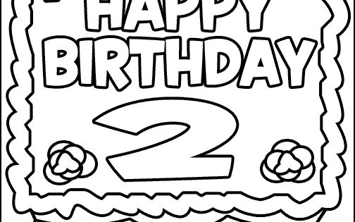 happy 2nd birthday coloring pages 28 birthday cake coloring pages customizable pdf printables 2nd coloring happy pages birthday