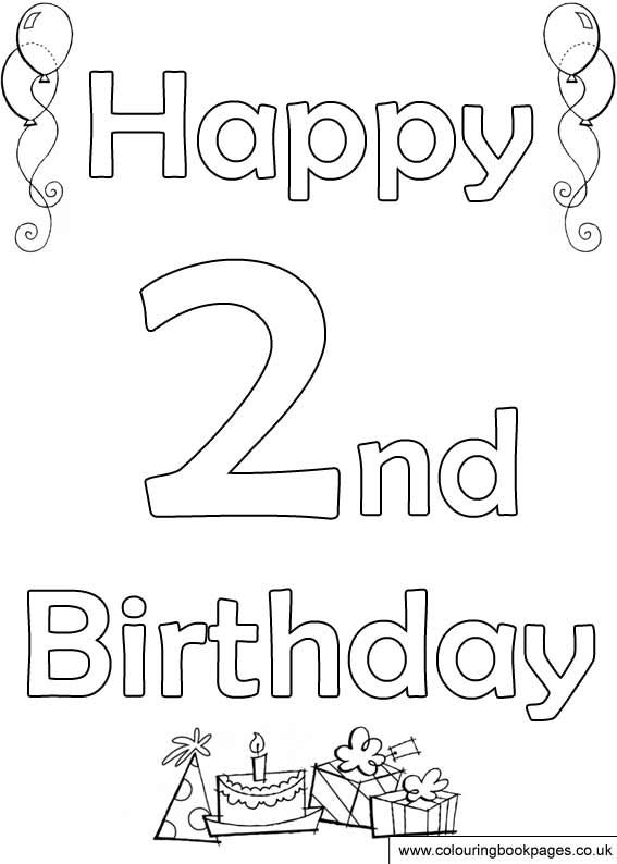 happy 2nd birthday coloring pages cake birthday party coloring pages for 2 years 2nd coloring pages birthday happy