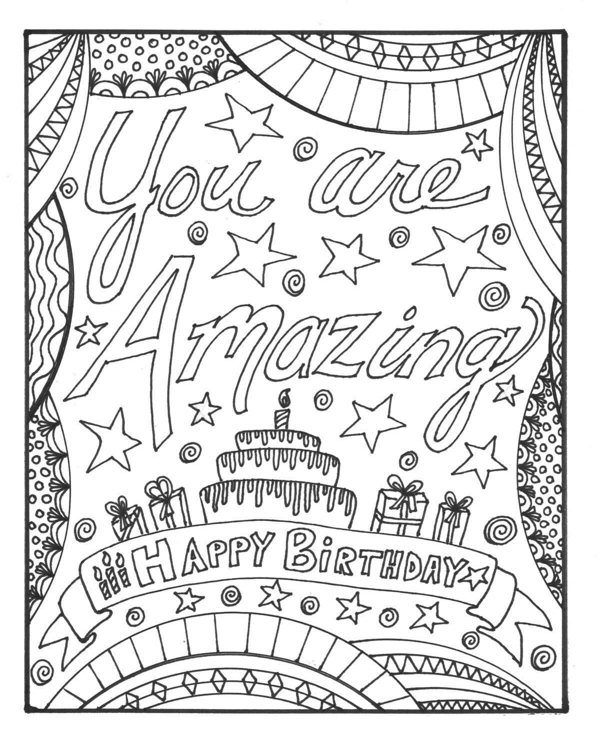 happy birthday coloring sheets fun learn free worksheets for kid free happy birthday happy sheets coloring birthday