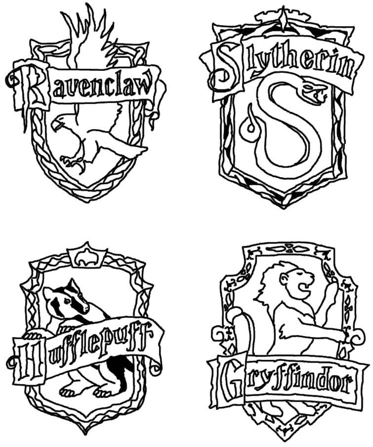 harry potter house coloring pages harry potter coloring page mosaic ideas pinterest harry house potter pages coloring