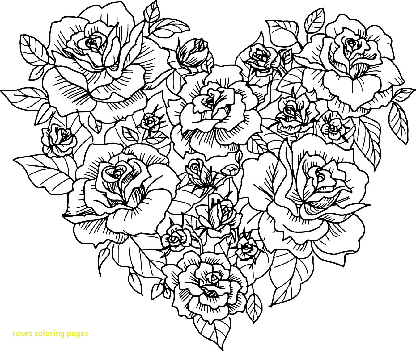heart and roses coloring pages heart with roses drawing at getdrawings free download roses coloring pages heart and