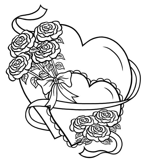 heart and roses coloring pages hearts and roses coloring pages coloring home pages coloring roses heart and