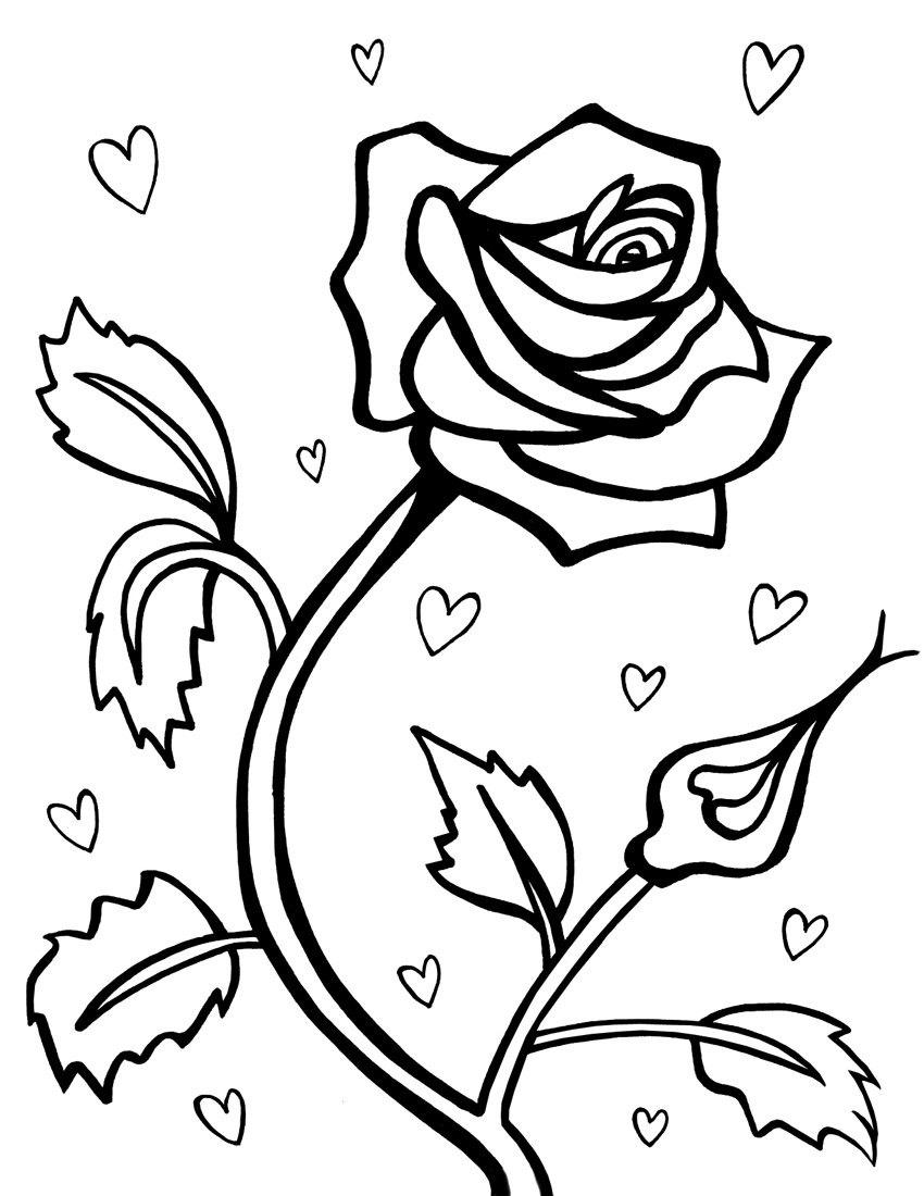 heart and roses coloring pages picture of hearts and roses coloring page picture of heart pages and roses coloring