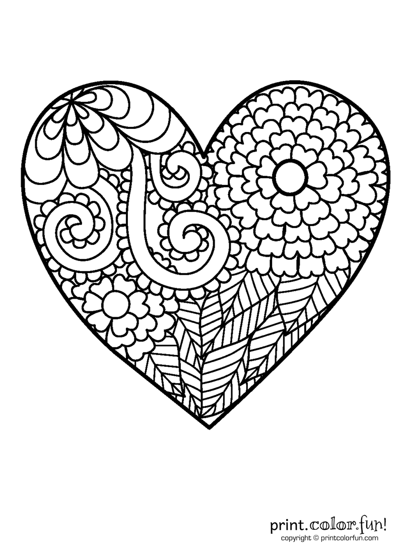 hearts to colour in flowery heart coloring coloring page print color fun hearts in colour to