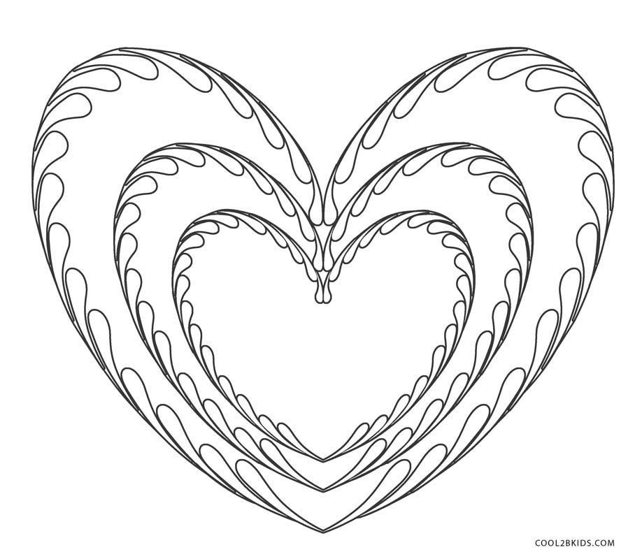 hearts to colour in free printable heart coloring pages for kids colour in hearts to