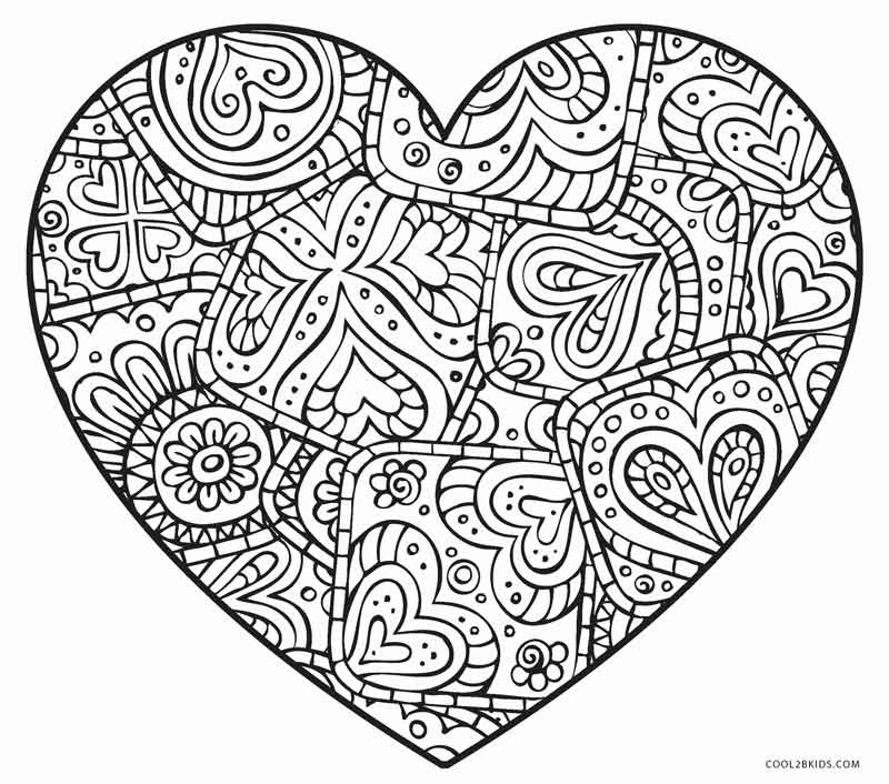 hearts to colour in valentine39s day heart coloring pages for kids printable free hearts to in colour