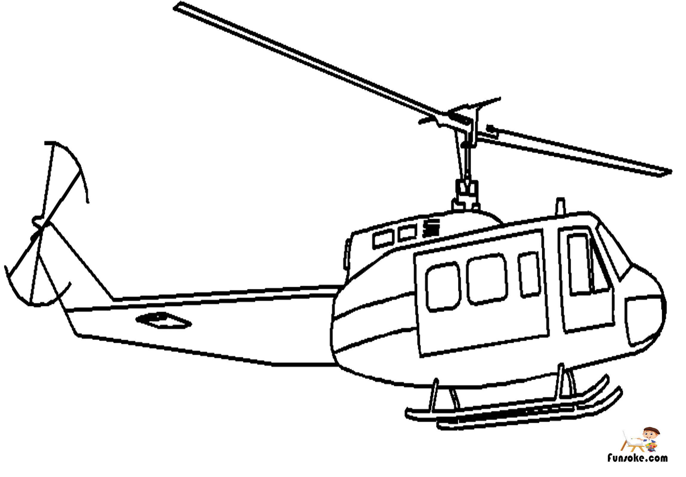 helicopter colouring pictures coloring pages helicopters airplanes funsoke colouring helicopter pictures