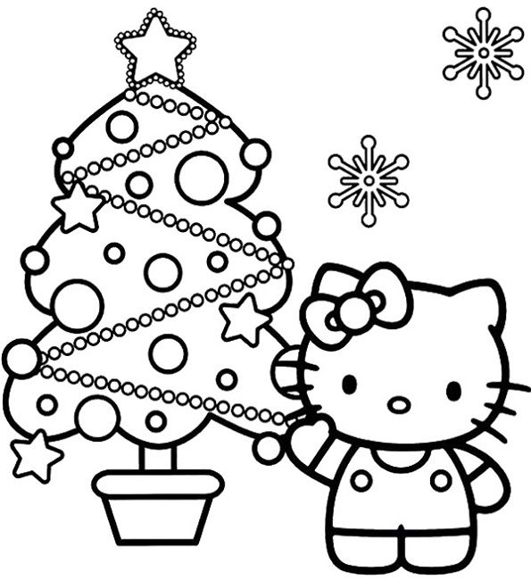 hello kitty christmas coloring pictures hello kitty christmas coloring pages cute 101 worksheets pictures coloring kitty christmas hello