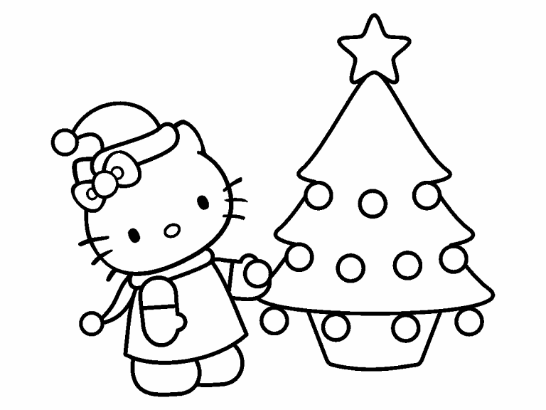 hello kitty christmas coloring pictures hello kitty christmas coloring pictures coloring christmas kitty hello pictures