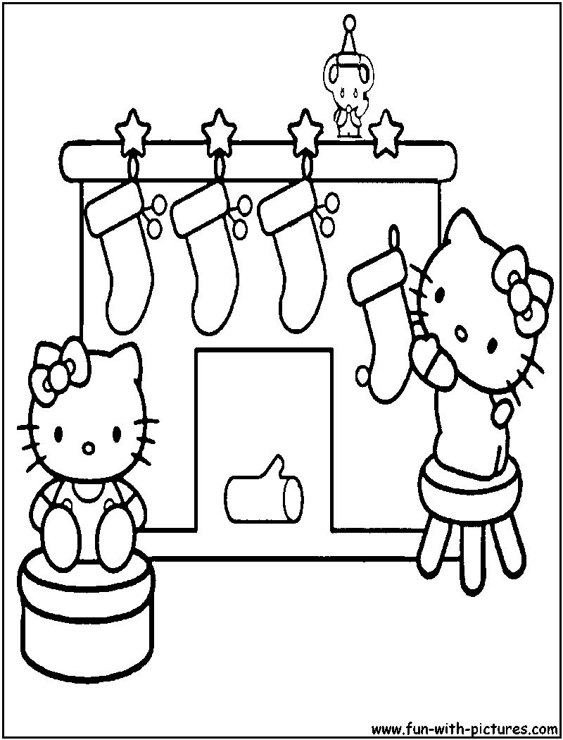 hello kitty christmas coloring pictures hello kitty with christmas candy cane coloring page free kitty coloring christmas hello pictures