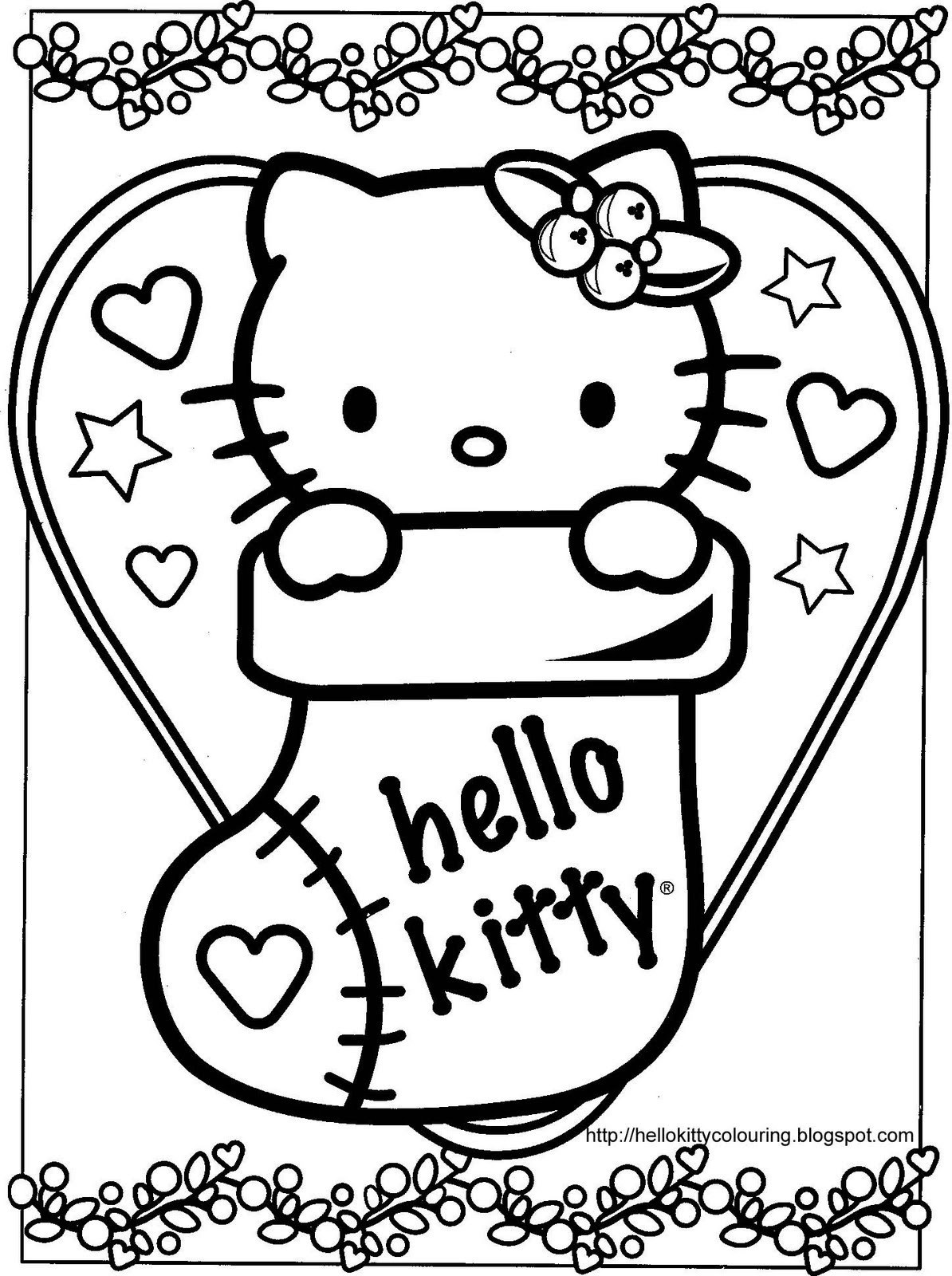 hello kitty christmas colouring pages christmas hello kitty hello colouring christmas kitty pages
