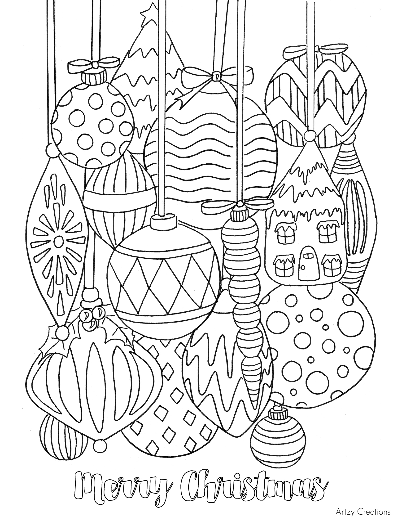 holiday coloring pages free free christmas ornament coloring page tgif this coloring holiday pages free