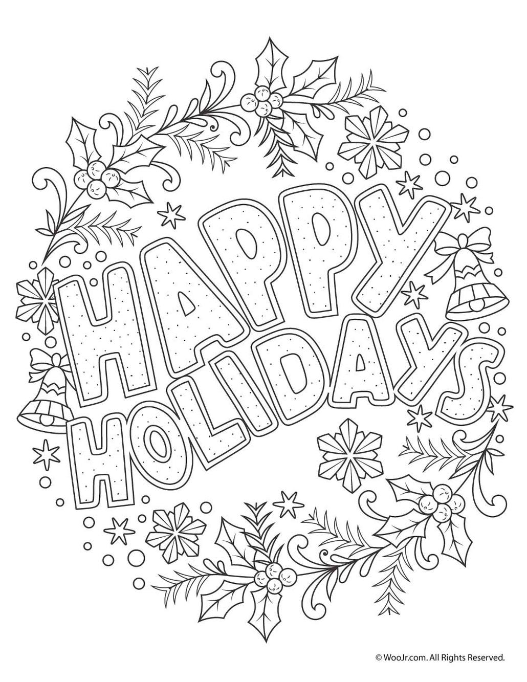 holiday coloring pages free get this adult christmas coloring pages printable hld6 free pages holiday coloring