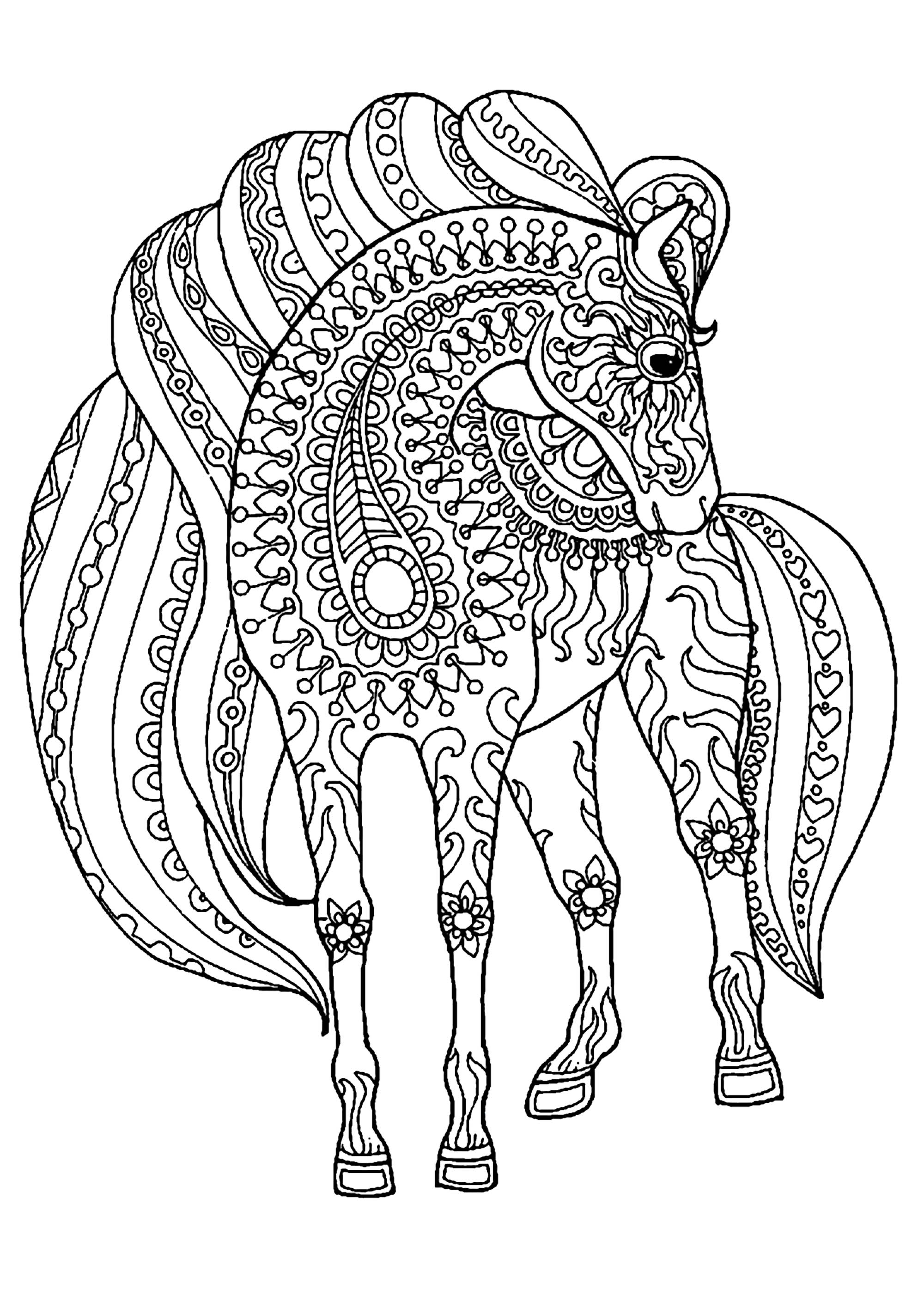 horse for coloring fun horse coloring pages for your kids printable for coloring horse