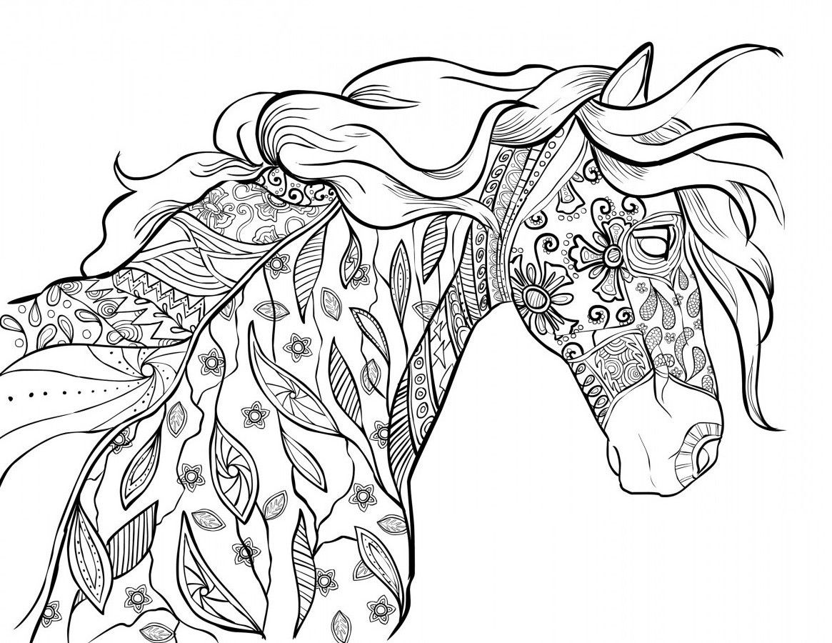 horse pages to color free horse coloring pages to color pages horse