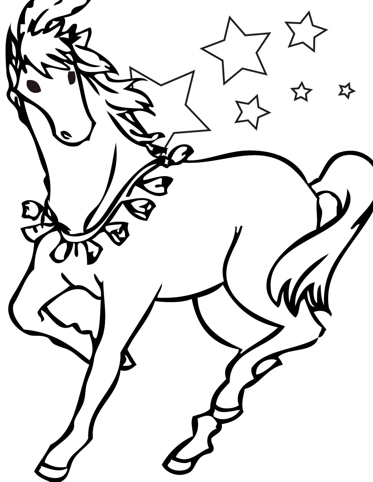 horse pages to color hand drawn horse for adult coloring page art therapy stock to color pages horse