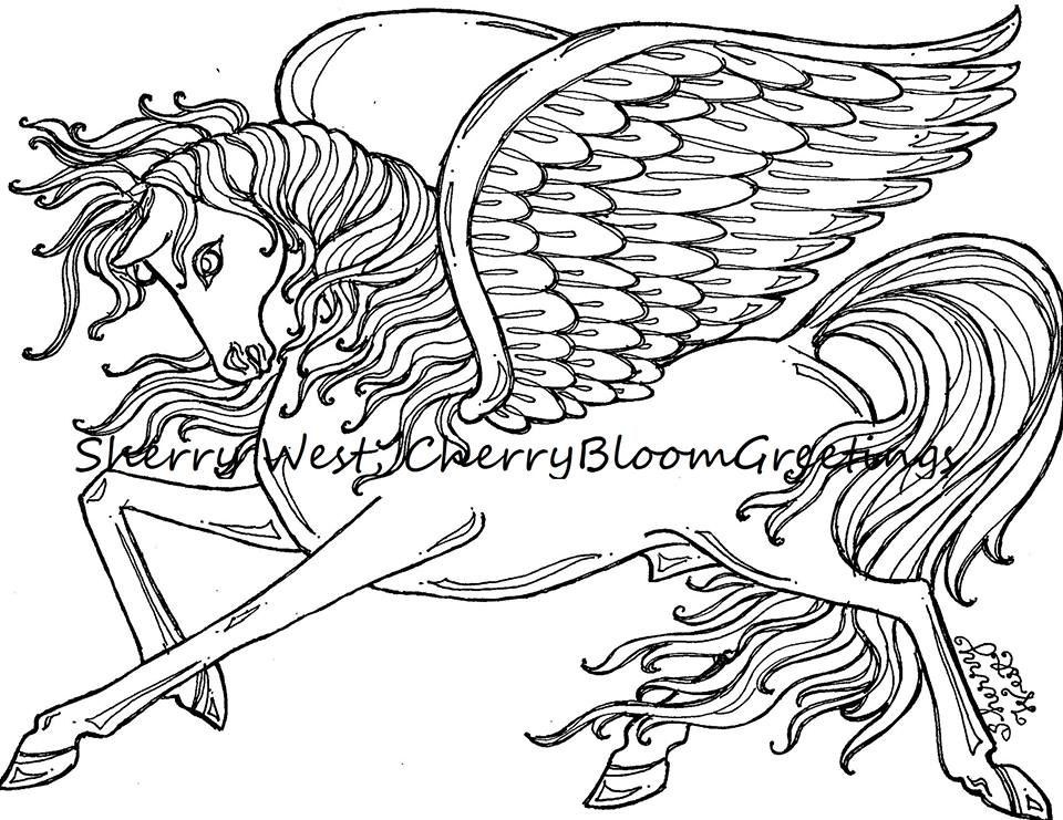 horse with wings coloring page flying horse by elfkena on deviantart horse coloring page wings with