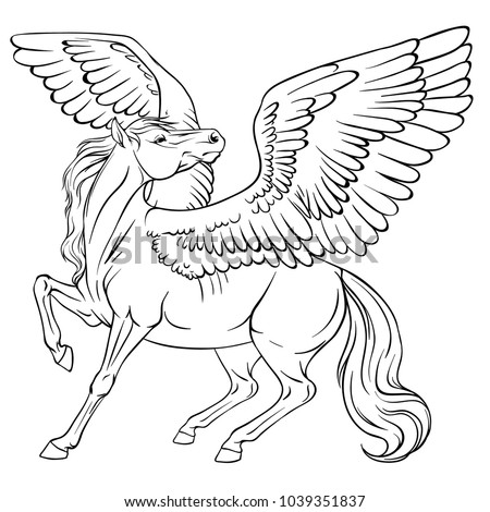 horse with wings coloring page winged horse coloring page audio stories for kids free horse with wings coloring page