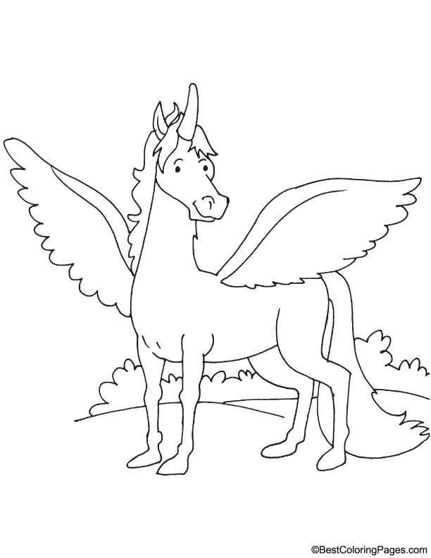 horse with wings coloring page winged horse coloring page download free winged horse page horse with wings coloring