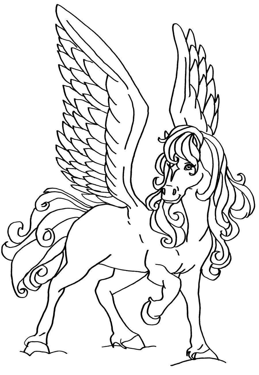 horse with wings coloring page winged horse lineart by bexyboo16 on deviantart wings coloring with horse page