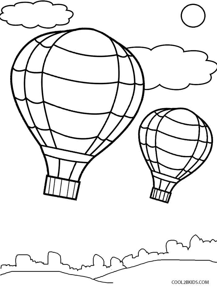 hot air balloons coloring pages hot air balloon coloring pages kidsuki hot coloring balloons air pages