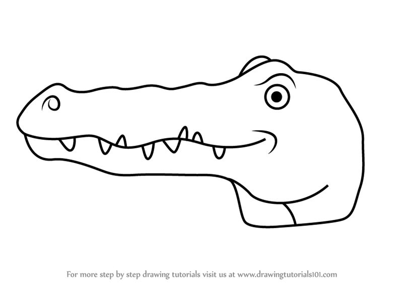 how to draw a alligator face learn how to draw a crocodile face for kids animal faces face to alligator how a draw