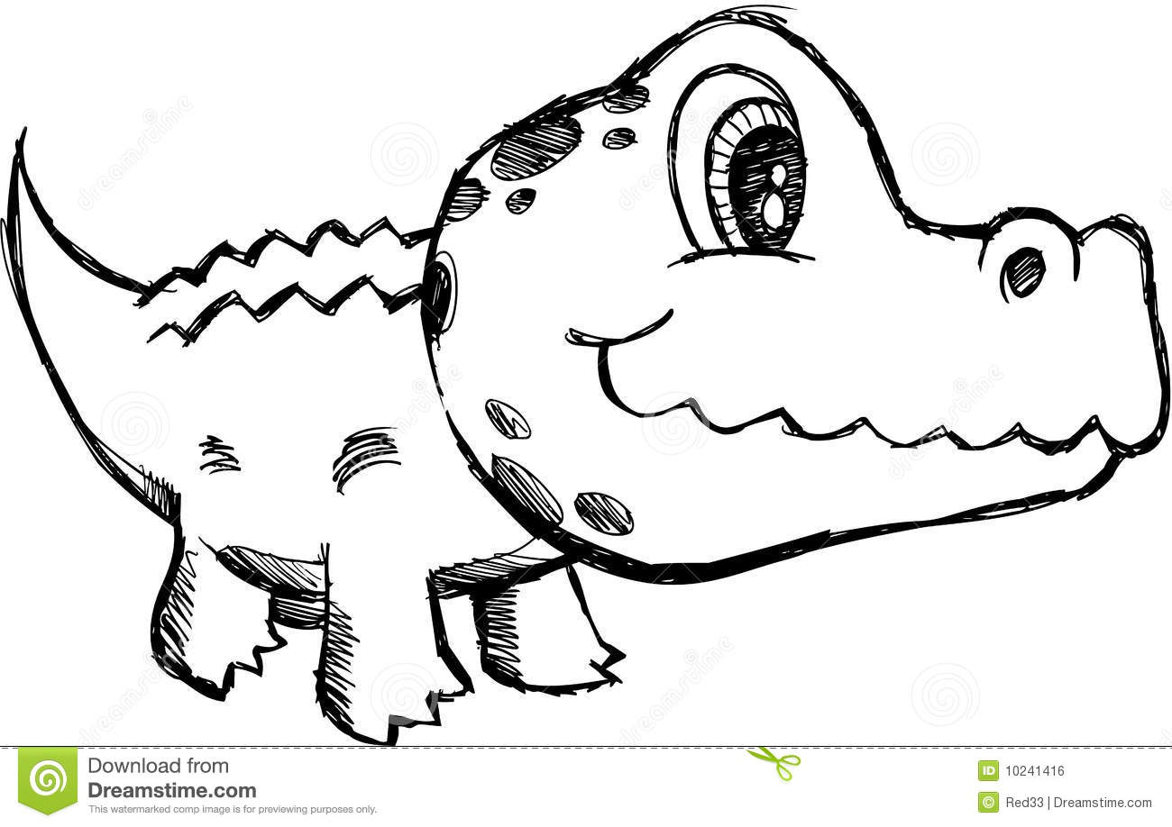 how to draw a alligator face sketchy alligator vector illustration royalty free stock how to alligator draw a face