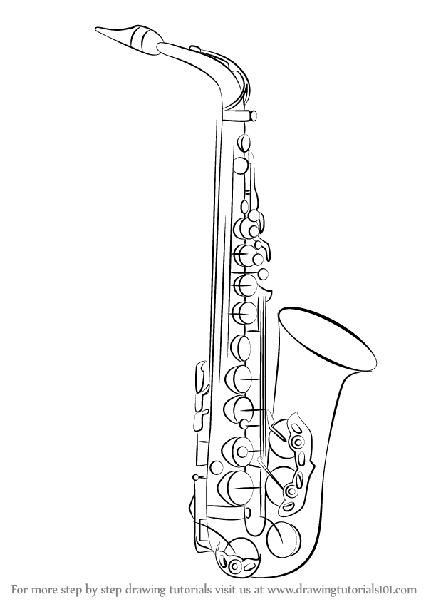 how to draw a alto saxophone alto saxophone one of a family drawing by mary evans to draw how saxophone a alto