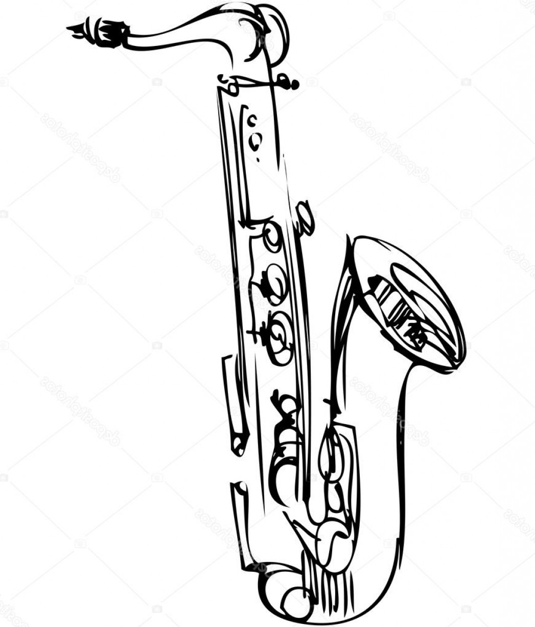 how to draw a alto saxophone pin on be artistic draw saxophone alto a how to