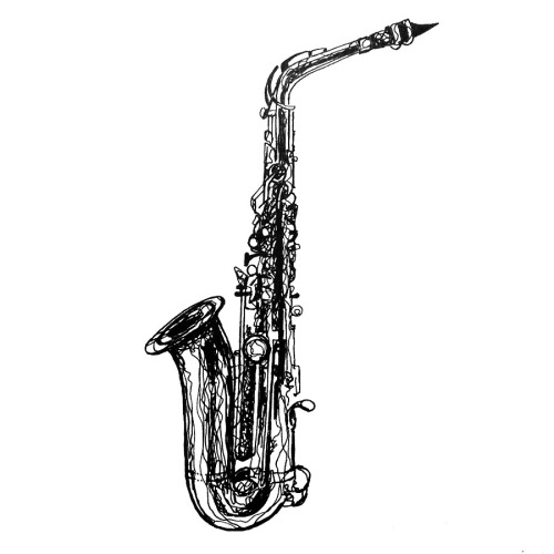 how to draw a alto saxophone sax drawing free download on clipartmag a how draw to alto saxophone