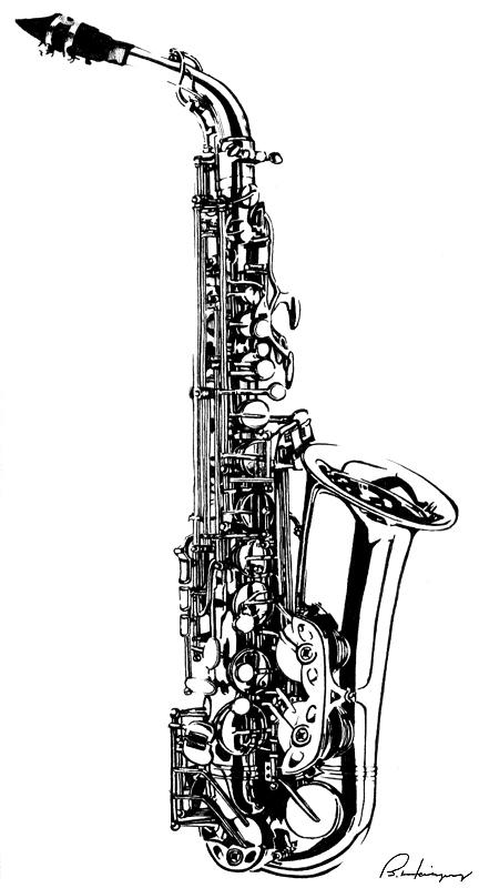 how to draw a alto saxophone saxophone pencil drawing at getdrawingscom free for how draw saxophone alto a to
