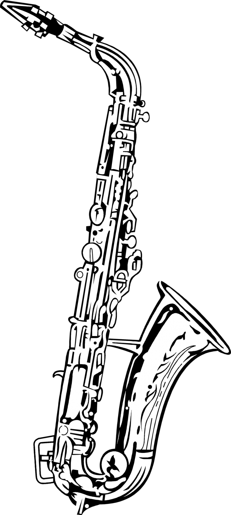 how to draw a alto saxophone saxophone vector cartoon art designs compilation we are a how alto to draw saxophone
