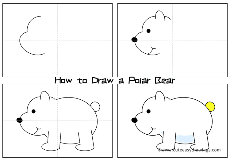 how to draw a bear step by step cartoon polar bear drawing easy step by step for kids step step draw how bear by a to